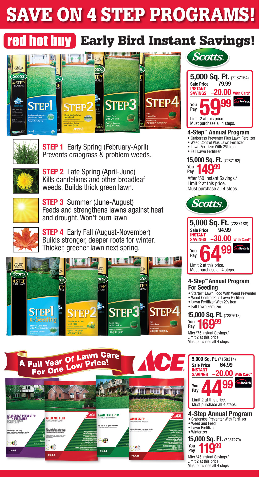 4 step lawn care ace chicagoland stores